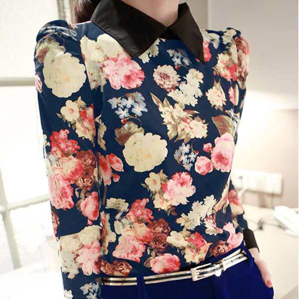 Принт топы для женщины винтажный блузы и рубашки дамы зима длинный рукав тело Blusas Femininas женщины одежда WC1101