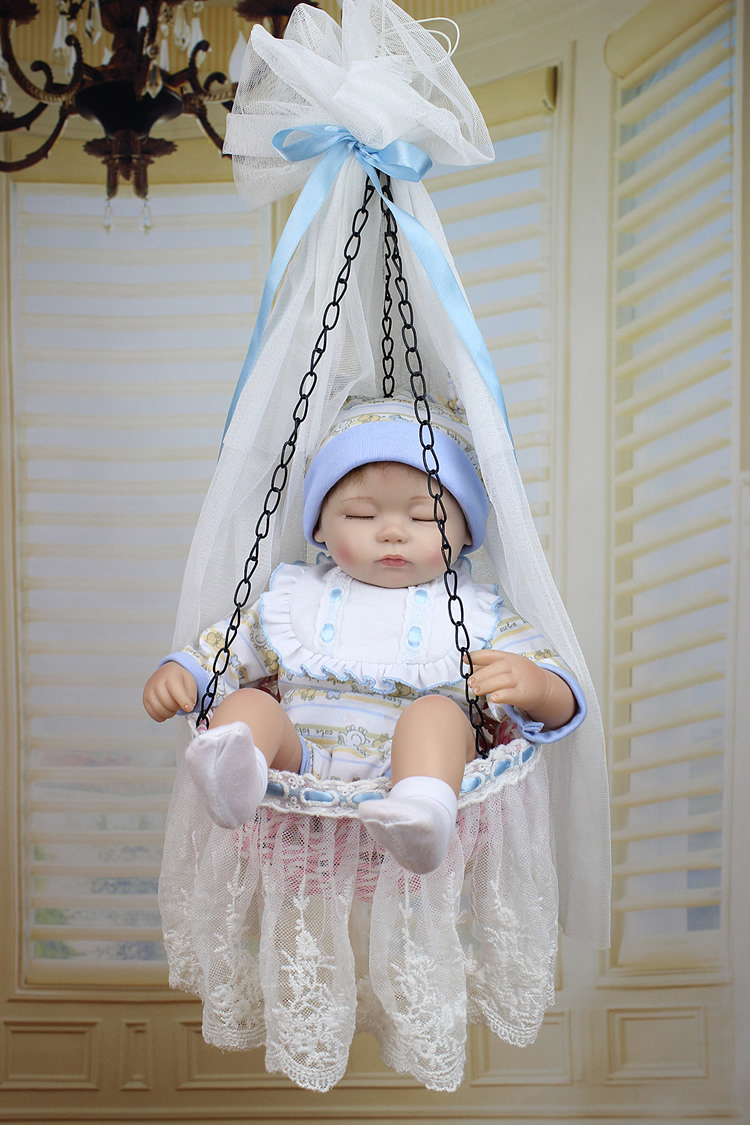 Фотография New Doll  soft silicon vinyl doll full handmade Reborn baby girl doll dreaming doll for  kids toys christmas gift