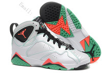 free shipping new 2016 women air jordan 7 vii retro shoes hare sweater lava with original box for sale woman size US5.5 to 8.5(China (Mainland))