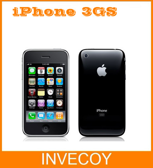 "3GS Original Unlocked iphone 3GS Smart phone Wi-Fi GPS 3.0MP 3.5""TouchScreen 3G iOS used cell phone(China (Mainland))"
