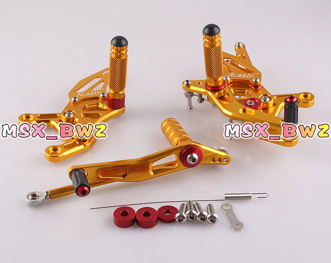 New Motorcycle Accessories Rearset Rear Set Footpegs Foot Pegs Adjustable SetFor Yamaha 09-11 YZF R1 2009-2011 Gold(China (Mainland))