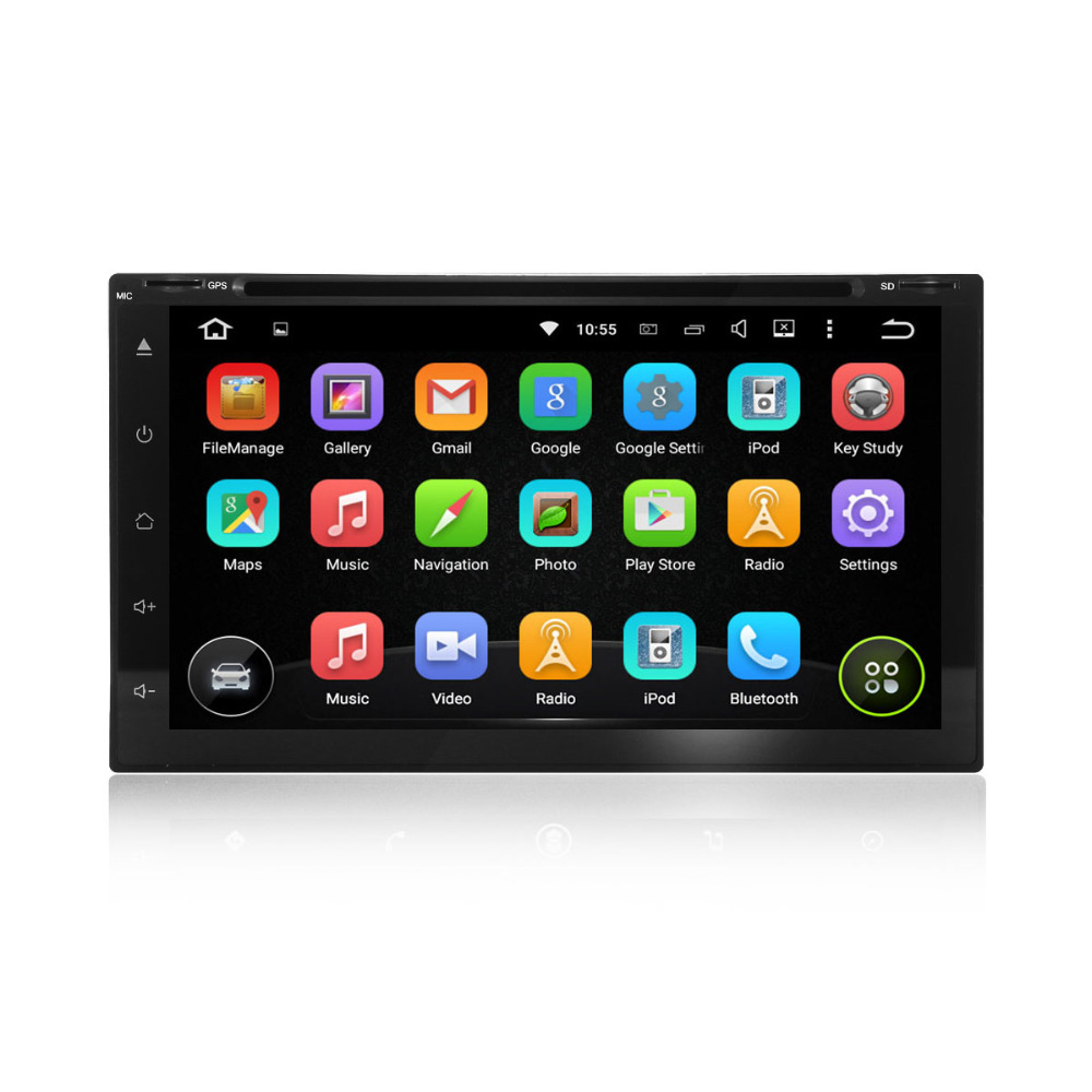 2 din Android 5.1 Lollipop autoradio Quad core HD full touch screen Car DVD Player Stereo GPS navi steering wheel control(China (Mainland))