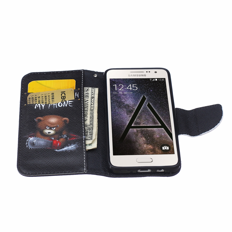 New 5 Painted Pattern Fundas Coque Wallet Flip Case For Samsung Galaxy A3 2015 A300F A3 2016 A310 Stand Holder PU Leather Cover