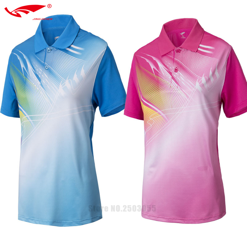 hot sale top quality 2016 2017 women table tennis shirt badminton shirt breathable sporting badminton clothes polo short shirts(China (Mainland))