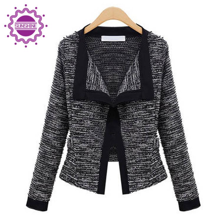 Fashion Jackets Women Europe Slim Short Jacket Long Sleeve All Match Cardigan Black Hot Sale Spring Autumn Jecket Coat(China (Mainland))