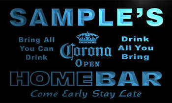 r004-tm Corona OPEN Personalized Custom Name Home Bar Beer Neon Sign Wholesale Dropshipping