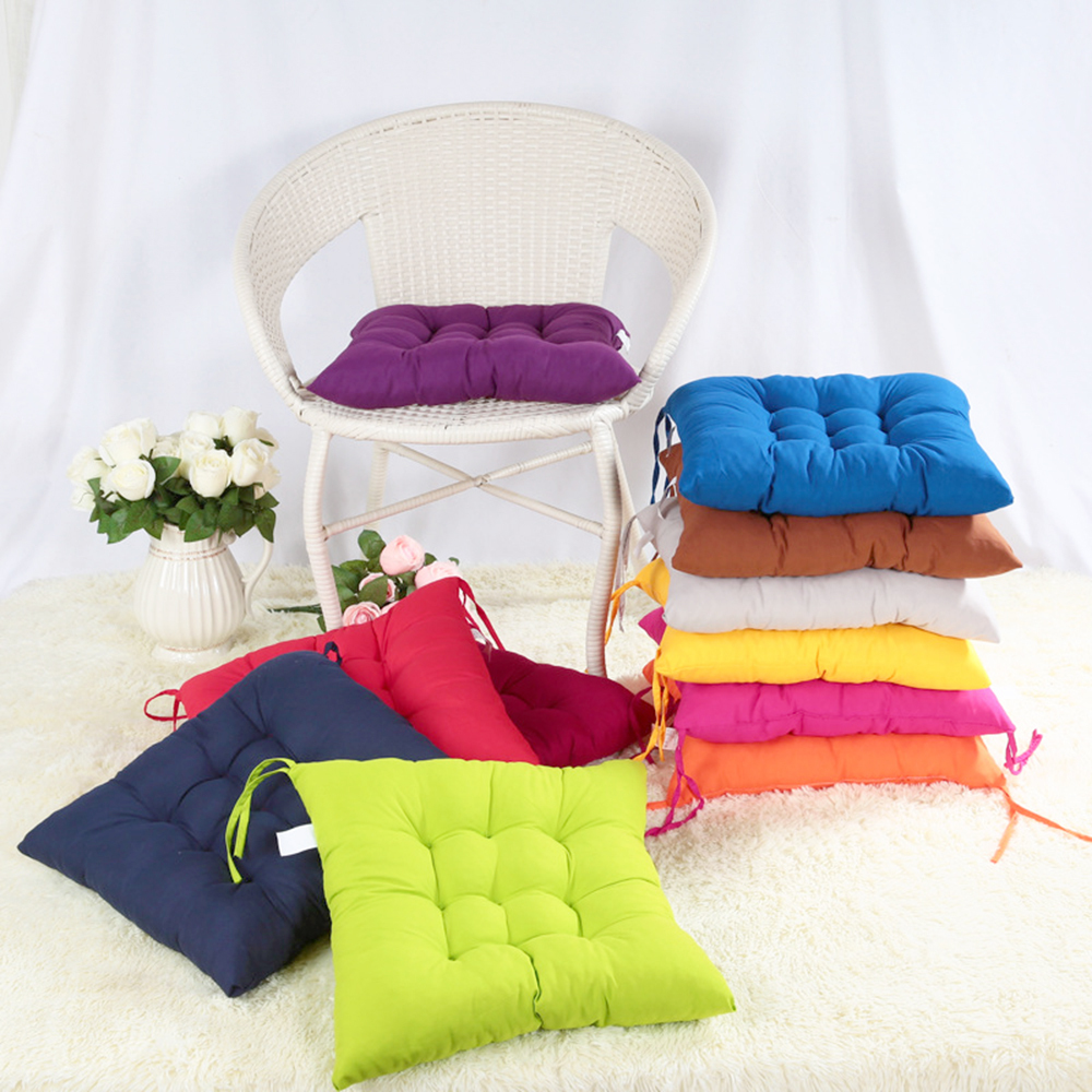New 40 40cm Square Seat Chair Pad Cushion Pearl Cotton