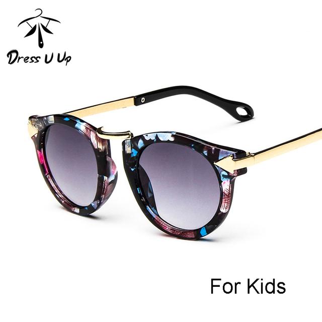 DRESSUUP Детские Мальчики Девочки Детские Солнцезащитные Очки Старинные Круглые Солнцезащитные Очки Дети Стрелка Стекла 100% УФ-Защита Óculos De Sol Gafas