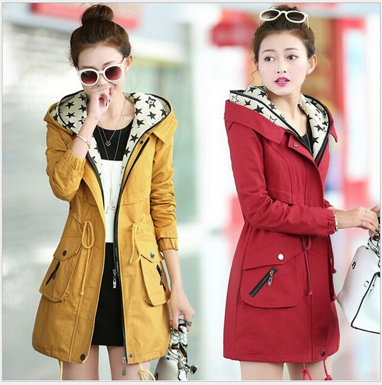 The Spring Of 2015 The New Paragraph Cultivate Ones Morality Grows in Womens Clothing Brand Ladies Fashion Lady Trench CoatОдежда и ак�е��уары<br><br><br>Aliexpress