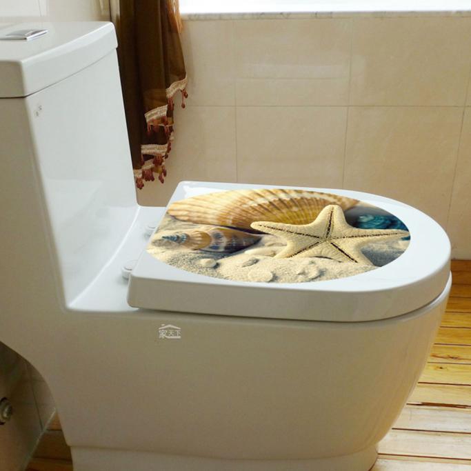 ⑧2016 New Sea Animal 웃 유 Sand Sand Pattern Toilet Lid ᗖ