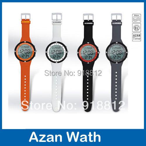 Free shipping newest azan watch 6506 Islamic Qibla watch with Prayer Compass Muslim Watch best islamic gifts(China (Mainland))