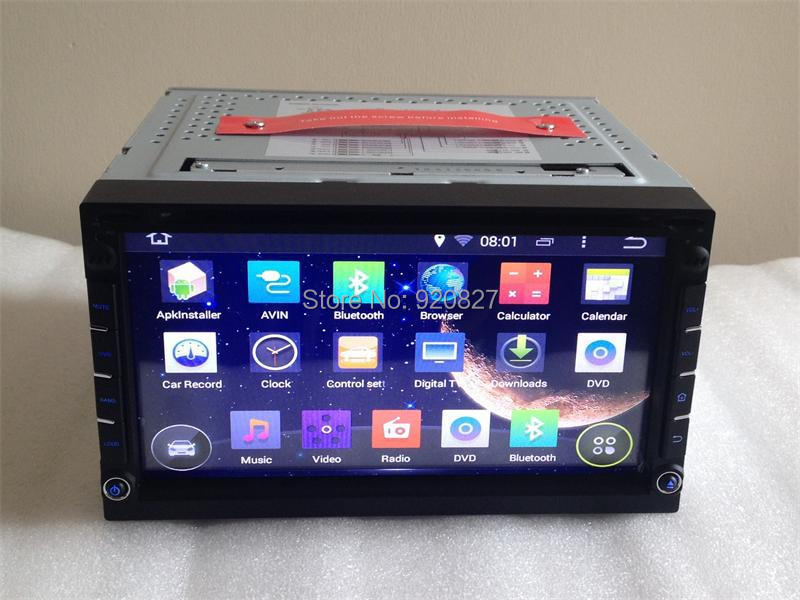 2 Din Android 4 4 Quad Core Universal Car DVD GPS Navi Autoradio Stereo With Cassette