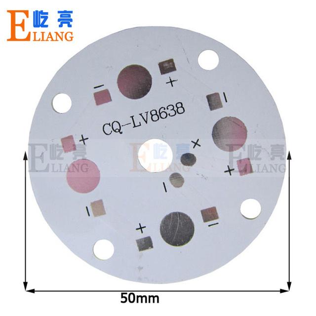 20pcs 45mm LED PCB 4W LED heat sink LED aluminium base plate DIY For 4W high power lamp lighting  free shipping