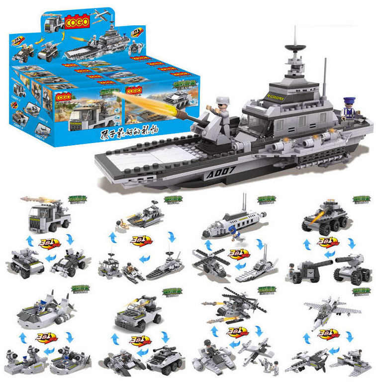 8 sets Block toy technic Toy star wars craft Aircraft carrier building block blocks bricks boy toy compatible with lego<br><br>Aliexpress