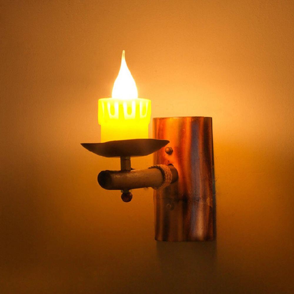Retro nordic ikea vela luz de la pared pa s de am rica for Lamparas pasillo ikea