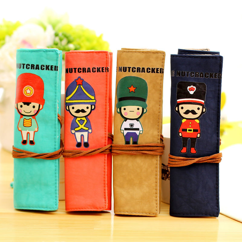 2015new fashion style little soldier student pencil case pencil box pencil bag for student(China (Mainland))
