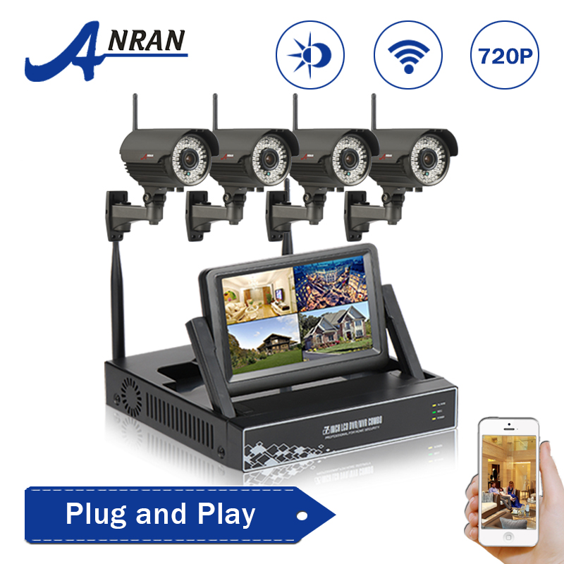 Manually Varifocal 2.8mm-12mm 4CH Wireless NVR Surveillance Video Kit 720P HD Outdoor Security Wifi Camera CCTV System 1TB HDD(China (Mainland))