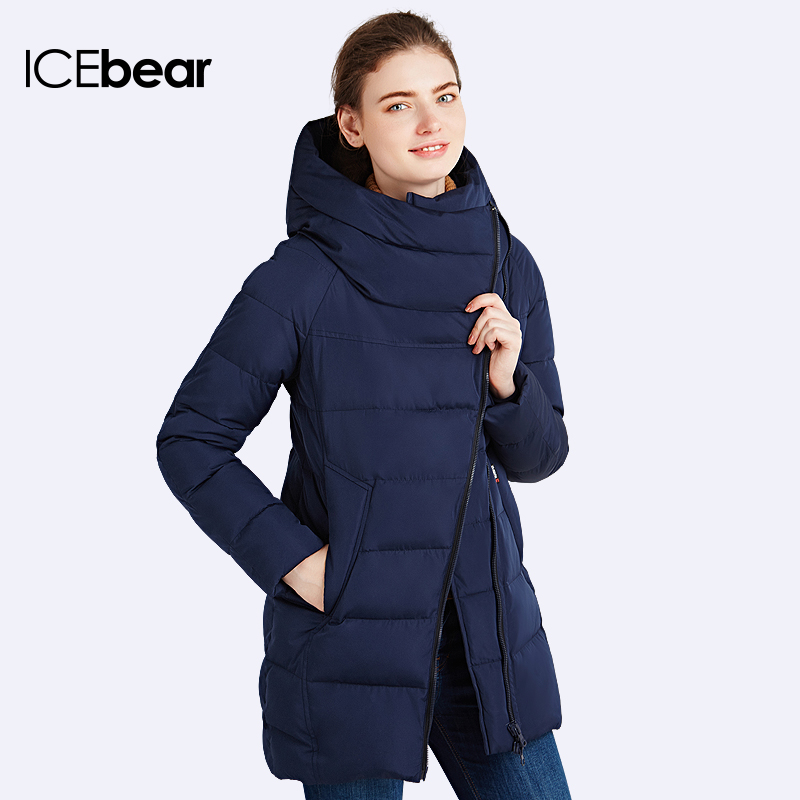 IECbear 2016 New Winter Collection Women's Parka Hooded Warm Jacket New Fashion Brand High Quality Thick Outwear Coat 16G607(China (Mainland))