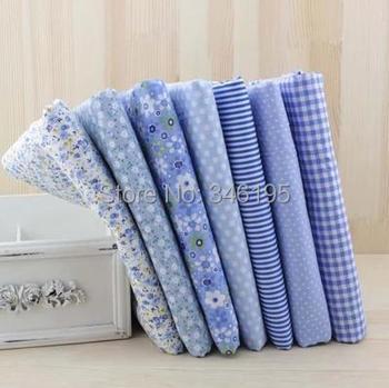 7 шт. синий 100% хлопчатобумажная ткань для шитья DIY лоскутное лоскутная ткани детей постельных принадлежностей домашний текстиль тильда куклы ткань ткань 50 * 50 см