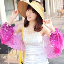 Free Shipping!Hot Sales Women's Fashion Summer UV Sunscreen Colorful Polka Dot Gradient Chiffon Shawl Scarf (PP624L-P)(China (Mainland))
