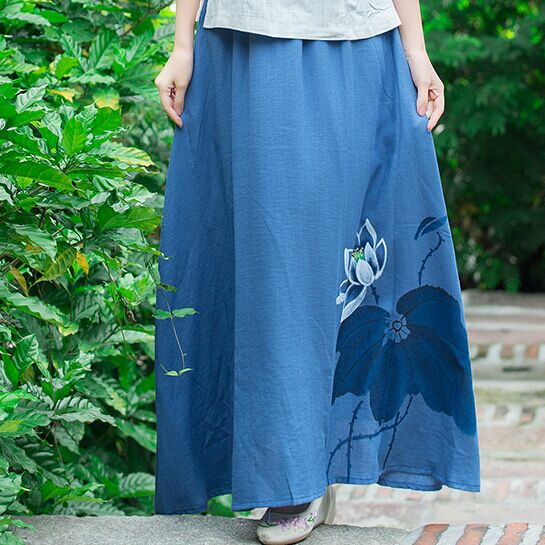 vintage calypso skirt blue lily
