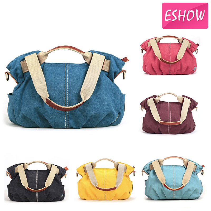 Eshow Hot women handbags women messenger bags women clutch handbags travel shoulder bags canvas bag crossbody bolsas BFK010801(China (Mainland))