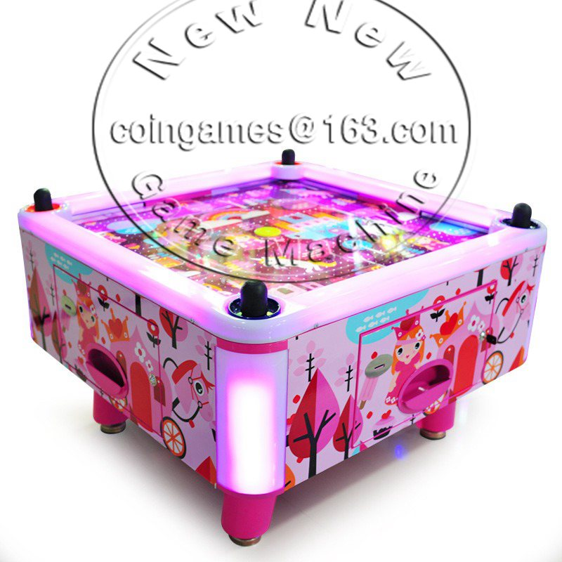 Amusement Park Equipment Arcade Indoor 4 People / Person Kids Children Coin Operated Square Air Hockey Table Game Machine(China (Mainland))
