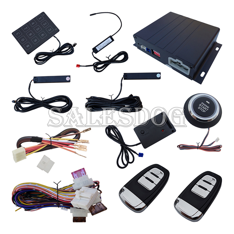 2015 New PKE Car Alarm System With Vibration Warning Remote Start Push Start & Password Entry Quickly Shipping In 24 Hours(China (Mainland))