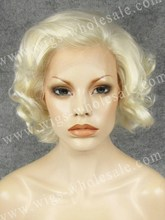 Heat Resistant Short Bob Curly Synthetic Front Lace Wigs Freetress Equal Wigs