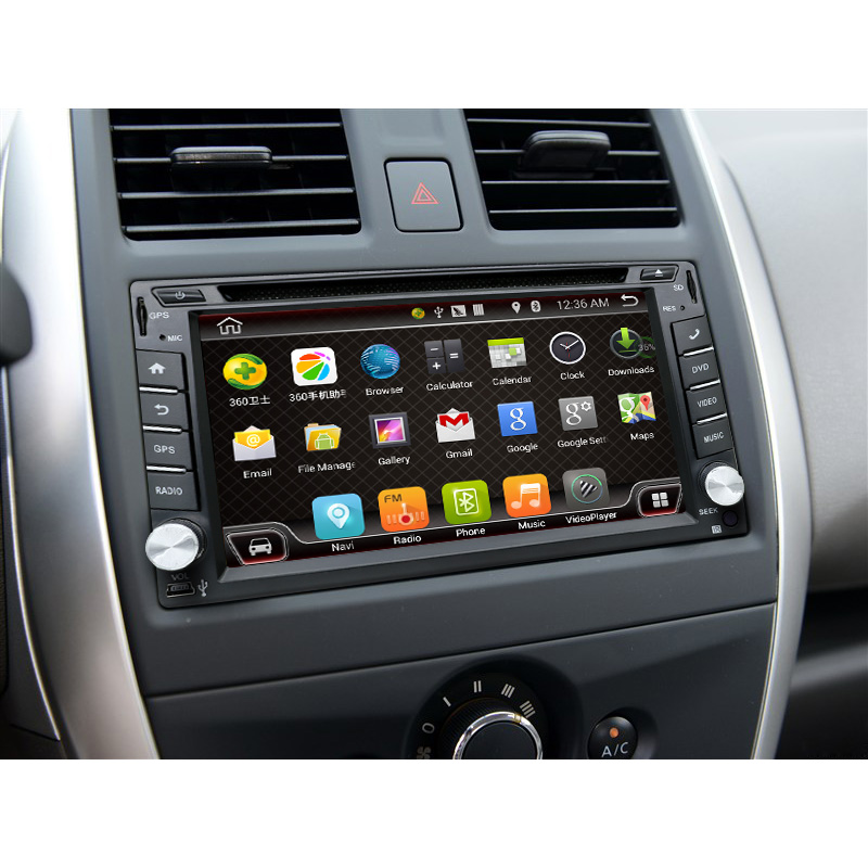 2016 map 2 Din Pure Android 4.4 Car DVD Player Navigation Stereo Radio GPS WiFi 3G CAPACITIVE Touch Screen Back Camera Car PC(China (Mainland))