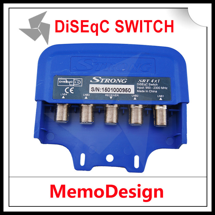 4 in 1 out DiSEqC Switch 4x1 DiSEqC Switch Satellite antenna flat LNB Switch for TV Receiver with high quality Freeshipping(China (Mainland))