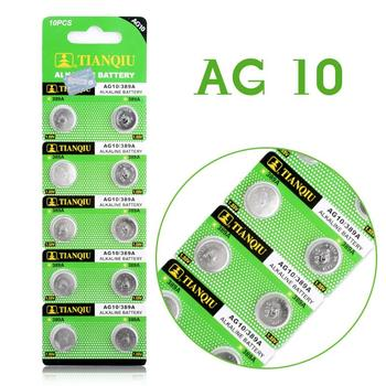 Hot selling 10 Pcs 1.55V AG10 LR54 LR1130 L1131 389 189 Alkaline Batteries Button Cell Coin EE6211