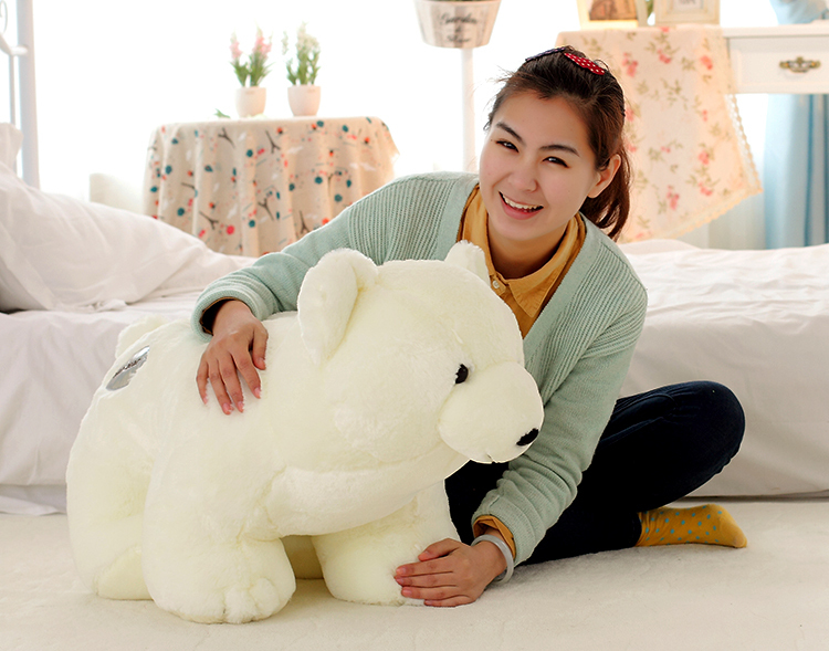 The lovely bear doll big plush standing bear toy The polar bear pillow birthday gift about 75cm(China (Mainland))