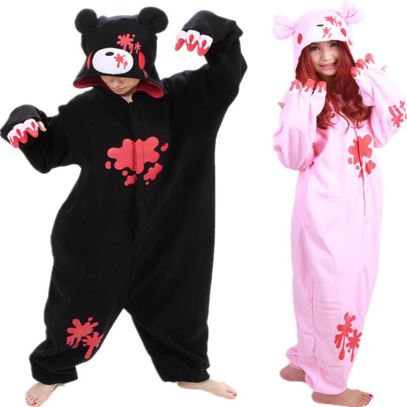 Cheap DHL Pijamas Black Pink Gloomy Bear Polar Warm Fleece font b Japan b font font