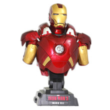 Iron Man 3 MARK VII 1/4 Scale Limted Edtion Collectible Bust Figure Model Toy with LED Light 23cm