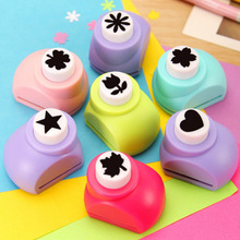 Free Shipping 15 Styles Mini Scrapbook Handmade Cute Card Craft Calico Printing DIY Paper Shaper Punch Hole Stationery