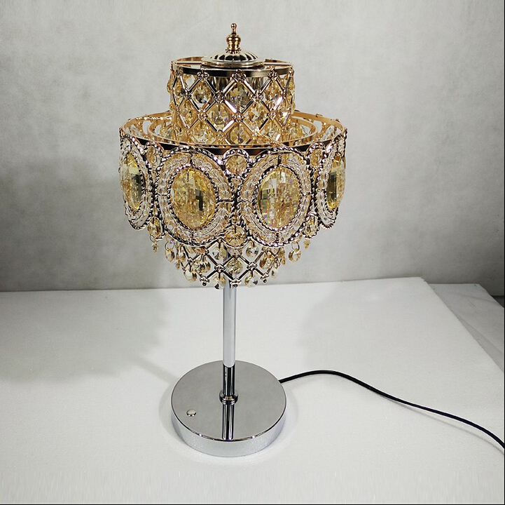 New Arrival D150mm H420mmluxruy crystal Table lamp fashion K9 Table lamp living room lamps bedroom Lighting Free Shipping(China (Mainland))