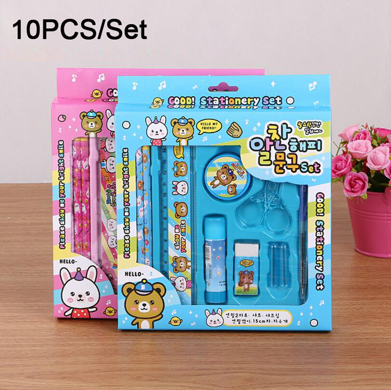 Xiaoyuer 2017 New Arrival Fashion Design Korean Style Nice Quality Stationery Set Primary Students Stationery Supplier(China (Mainland))
