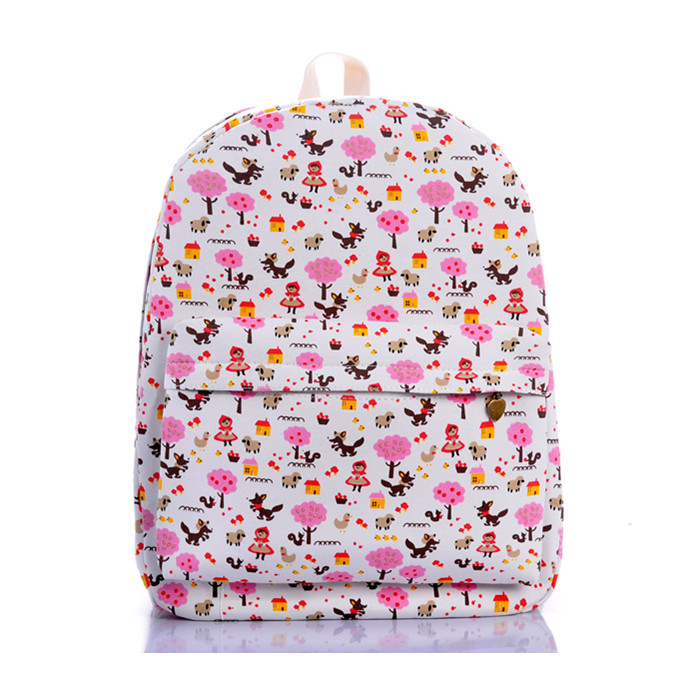 Sweet pink women's backpack Han edition middle school bag leisure Fashion, women love travel bags - jian ye's store