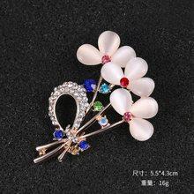 WEIMANJINGDIAN di Marca Di Cristallo Elegante Strass Gatto/Pavone/Arco/Acquario e Floreale Opal Spilla Spilli in assortiti(China)