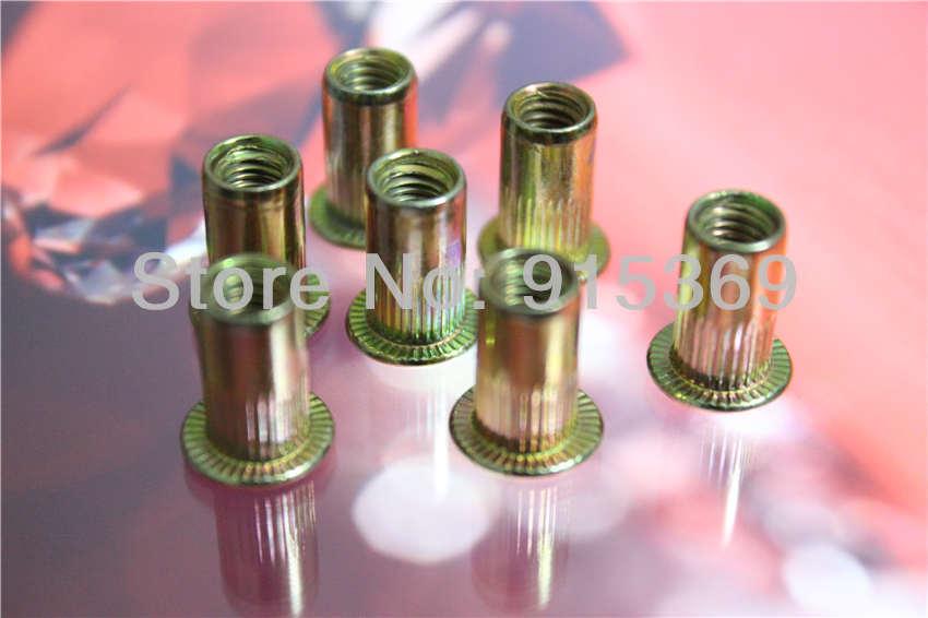 100 x 1/4-20 UNC Rivet nuts SAE RIVET NUT Steel insert nut Free Shipping<br><br>Aliexpress