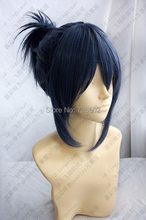 [xiao mo]No.6 Blue and Grey Short Cosplay Costume Wig Nezumi from anime hair fashion man woman high temperature wire