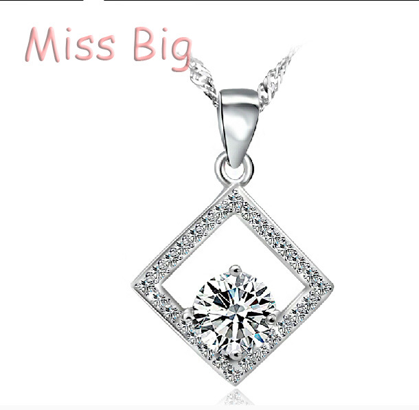 Top Class Women Girls Lady Heart Crystal Amethyst Pendant Necklace Jewelry Fashion(China (Mainland))