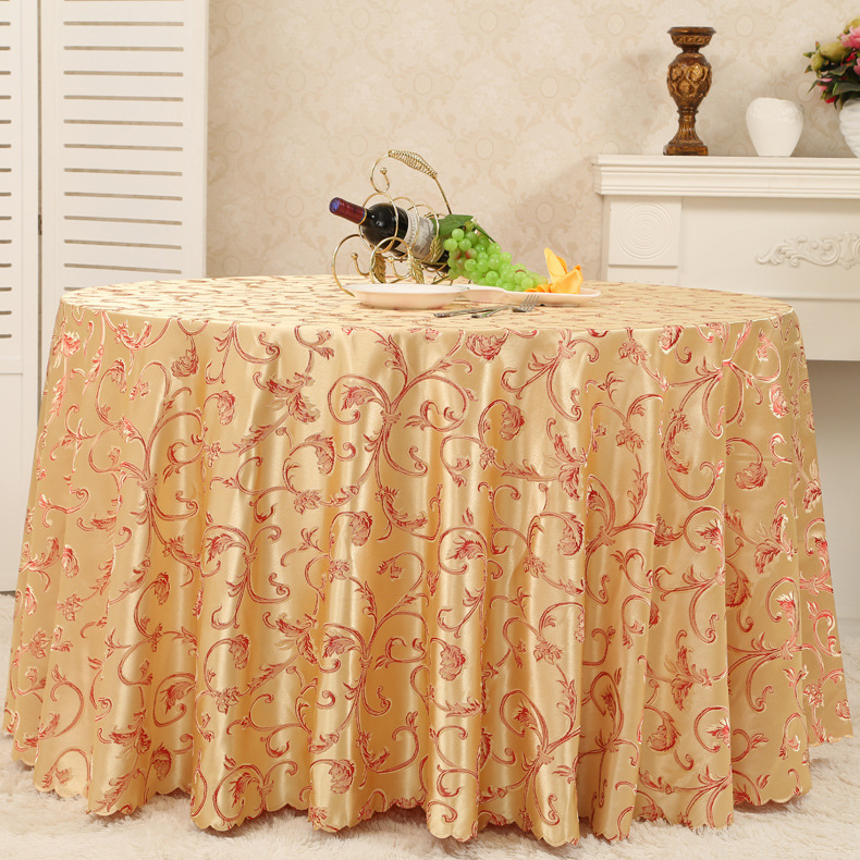 (Mutil Size)Hotel/restaurant/household daffodil jacquard table skirt of table cloth(China (Mainland))