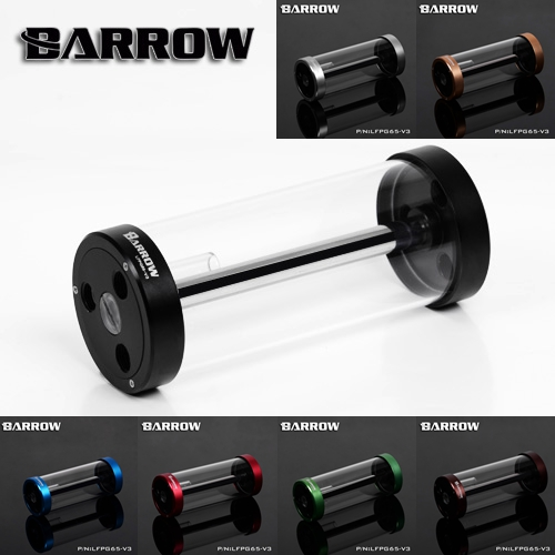 Barrow color 170MM65MM diameter cylindrical quartz glass tank cooling water tank computer LFPG65-V3()