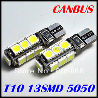 Hot Sale External Lights 4x Error Free T10 Canbus Led W5w 194 5050 13 Smd Light Bulb Shipping Car Lamp Wholesale