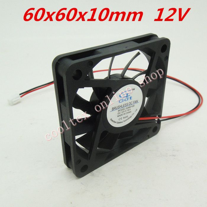 3pcs/lot  60x60x10mm  6010 fans 12 Volt  Brushless 6cm DC Fans cooling radiator  Free Shipping<br><br>Aliexpress