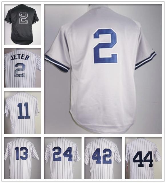 Free shipping Cheap 2 Derek Jete jersey Authentic new york baseball shirts Stitched Alex Rodriguez jersey yankees 2015(China (Mainland))