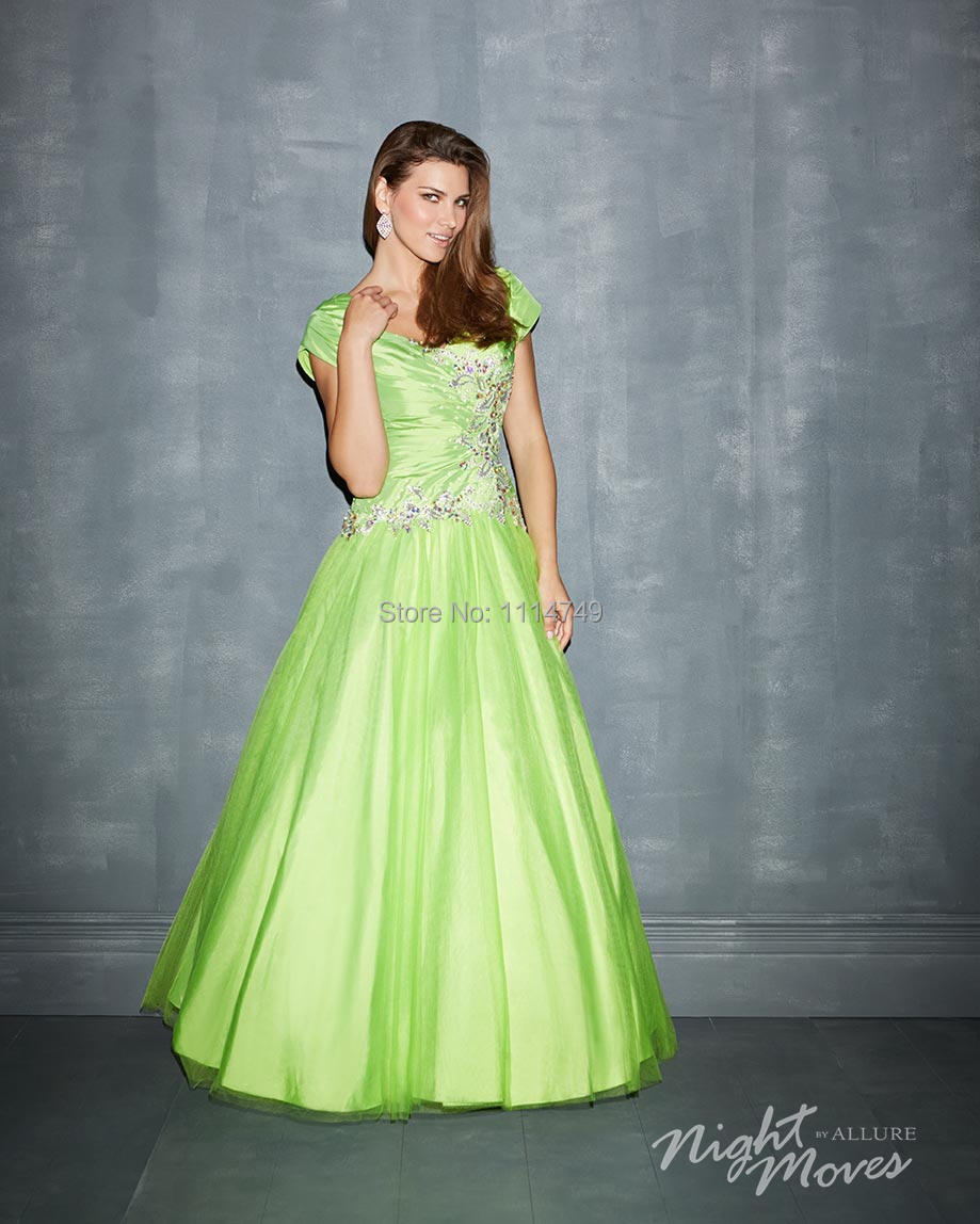 Contemporary Lime Green Party Dress Vignette - All Wedding Dresses ...