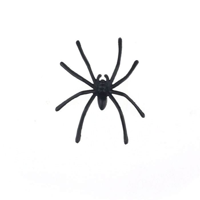 Best-seller free shipping 20 PC Halloween Plastic Black Spider Joking Toys Realistic for playing fun brincando Brinquedos